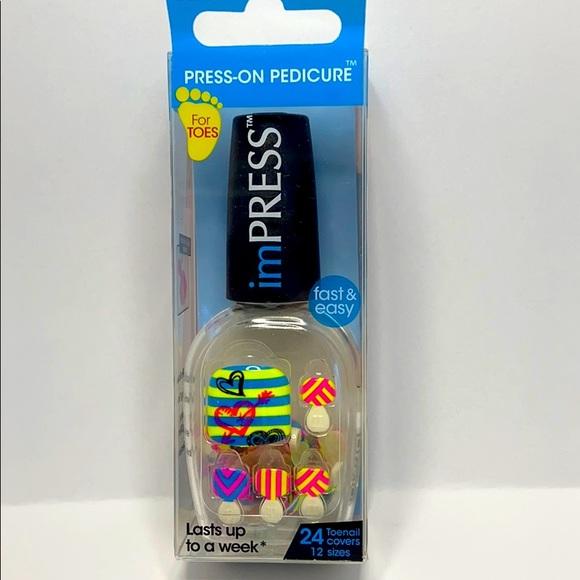 🔥 2 for $15 ImPRESS Press on Pedicure